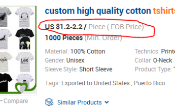 Como importar roupas dos EUA a partir de 1 dólar